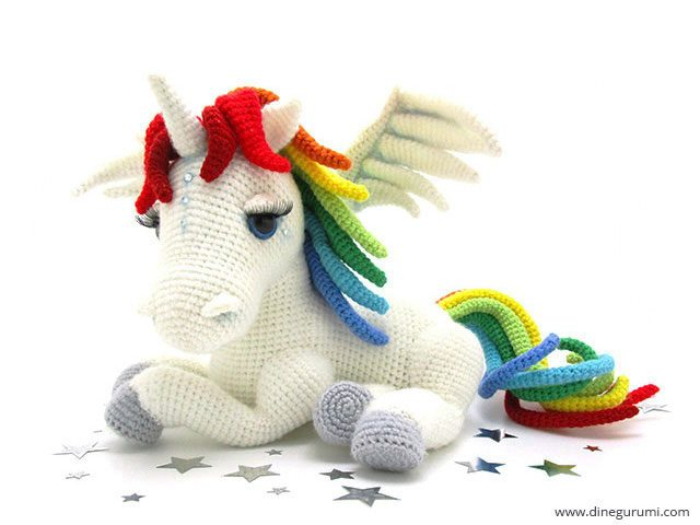 Free Crochet Unicorn Pattern - Red Ted Art - Make crafting with ... | 480x640