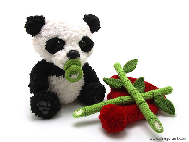 Panda häkeln // sehr kuschelig // DIY-PDF | 480x640