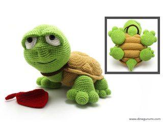 Dinegurumi Official Shop Sheriff Mouse Turtle Crochet Pattern